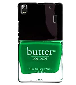 Blue Throat Butter London Nail Polish Printed Designer Back Cover/ Case For Lenovo K3 Note