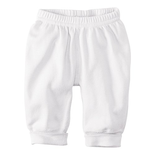 Hanna Andersson Baby Wiggle Pants In Organic Cotton, Size Nb (Newborn), White front-933198