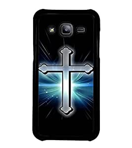 Fuson Premium 2D Back Case Cover Christian Cross With Multi Background Degined For Samsung Galaxy J2::Samsung Galaxy J2 J200F