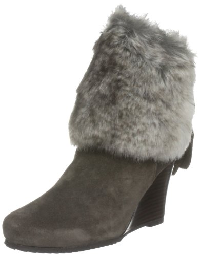 Chinese Laundry Women's Very Nice Light Taupe Fur Trimmed Boots 5052125659422 6 UK