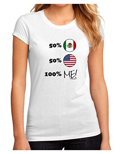 TooLoud Mexican American 100 Percent Me Juniors Sublimate Tee