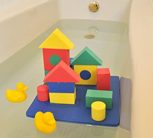 Non-Toxic Floating Waterproof Foam Blocks Bathtub Toys for Children w/ Tote Bag: Non-Recycled Quality & Lead Free - 1