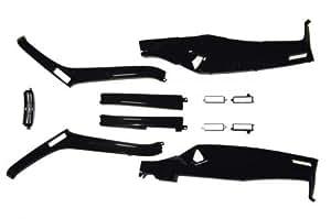 【6ヶ月保証付】【FUSION[フュージョン]】 MF02 アンダーカウルセット リフレクター付き ブラック/黒 aiNET製 1363