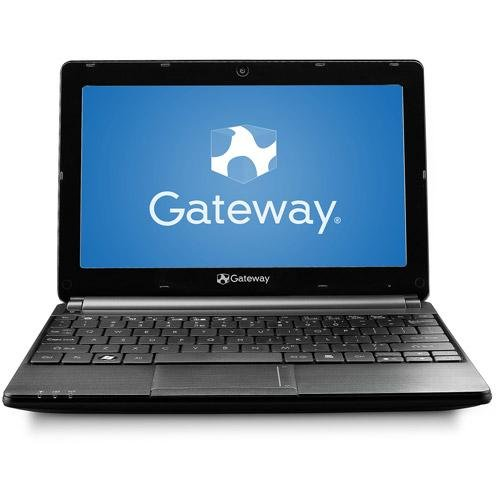 Gateway LT4008u 10.1 Netbook PC, Intel Atom Dual-Core N2600, 1.6GHz, 1GB, 320GB, Wireless, Webcam, River Black, Windows 7 Starter