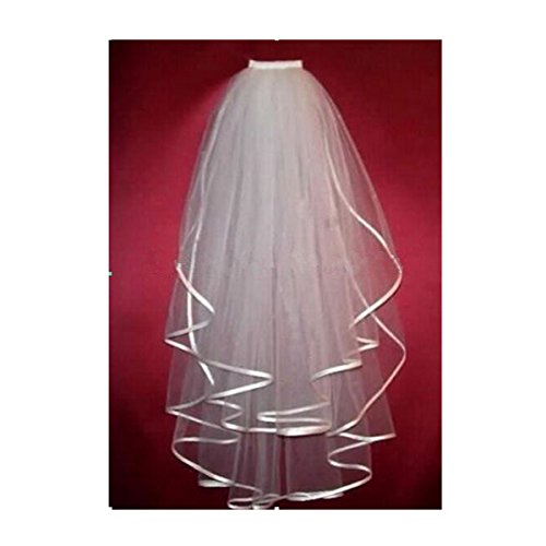 Fair Lady Multi-layers White Wedding Bridal Veil Middle Length with Comb