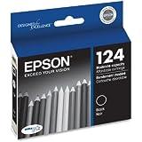 Epson T124120 DURABrite Ultra 124 Moderate-capacity Inkjet Cartridge -Black