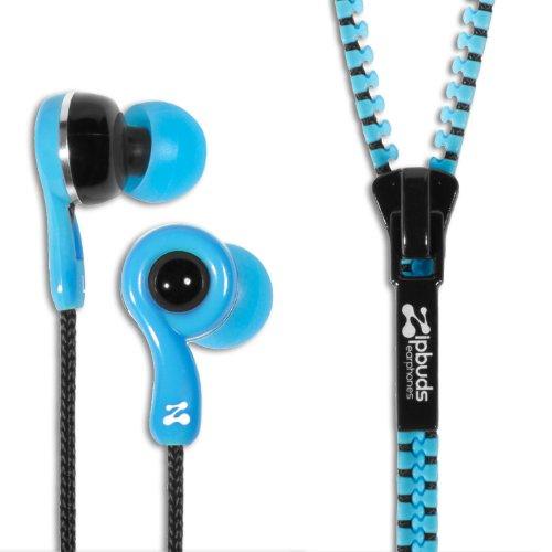Zipbuds JUICED 2.0 Never Tangle Zipper Earbuds Featuring ComfortFit2 Technology, Blue