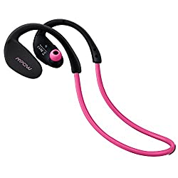 Mpow Cheetah Bluetooth 4.1 Wireless Headphones Stereo Sport Running Gym Exercise Headsets (Pink)