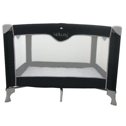 Kidiway Click N' Go Play Yard, Black/Silver front-900158