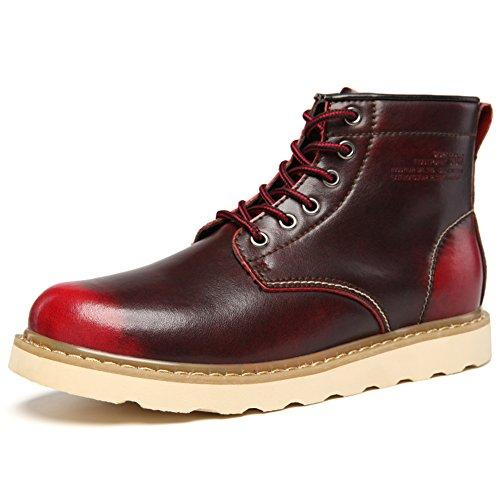 Bottes moto hommes Martin/Chaussures haut/ Rétro dans des chaussures à semelle épaisse / brosser les chaussures d'outillage / chaussures de loisirs en cuir