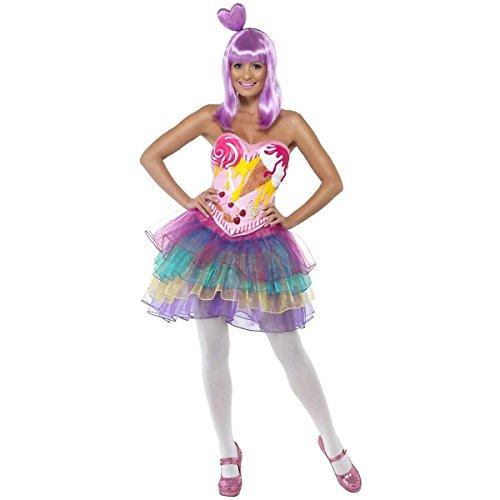 [GSG Candy Costumes Sexy Adult Cupcake Girl Pop Star Halloween Fancy Dress Outfit] (Pop Star Fancy Dress)