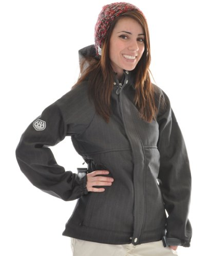 686 Plexus Quest Softshell Ski Snowboard Jacket Gunmetal Womens Sz L