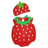 【帽子付 イチゴ ロンパース 着ぐるみ】pinnku~赤 ランキングお取り寄せ