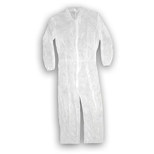 Trimaco 9901 Disposable Coverall, Medium, White