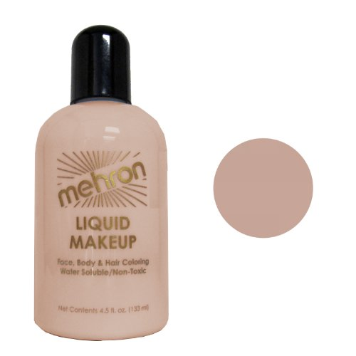 Mehron Liquid Face and Body Painting Makeup (4.5 ounce, Mid-Dark Olive)