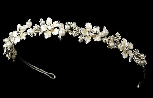 Rhinestone Silver Wedding Tiara Bridal Headband 215
