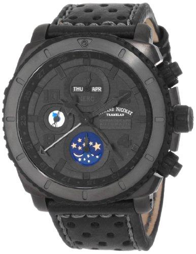 Armand Nicolet Men's T618N-NR-P160NG4 S05 Sporty Automatic D.L.C. Black Treated Titanium Watch