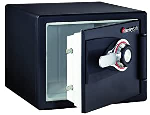 SentrySafe DS0200 Safe 1 Hour Fireproof Combination Safe, 0.8 Cubic Feet, Black