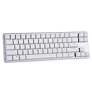 Mechanical Keyboard Gaming Keyboard OUTEMU Brown Switch 68-Keys Mini Design (60%) Gaming Wired Keyboard Come with Free Data OTG Cable White Silver Magicforce by Qisan
