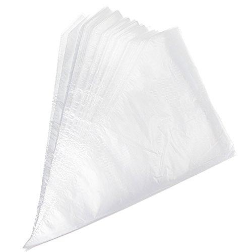 Poches à Douille Jetables en Plastique pour Glaçage Gâteau by LIHAO - Paquet de 100 pièces