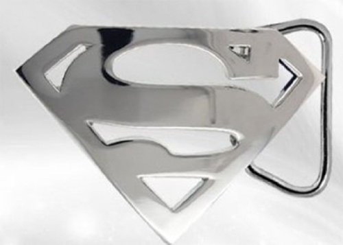 Best Price Chrome Superman Logo Belt Buckle Superman