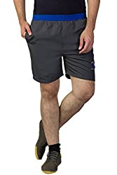 Greenwich United Polo Club Men's Polyester Shorts (GUPC12_Grey_X-Large)