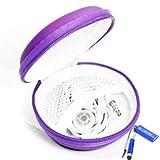 Bluecell Purple Color PU Leather Earphone Hard Case/bag