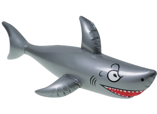 "One 40"" Long Vinyl Inflatable Shark"