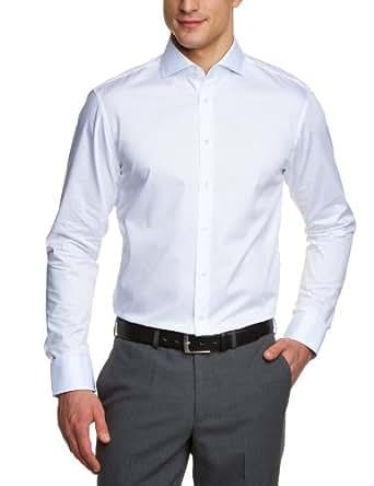 Jacques Britt Herren Businesshemd Regular Fit 20.736031-01, Gr. 42, Weiß (01)