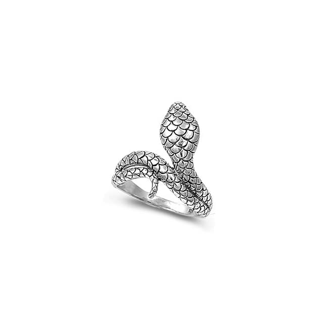 Sterling Silver High Polish Snake Ring Size 6