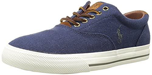 4. Polo Ralph Lauren Men's Vaughn Linen Fashion Sneaker