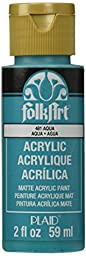 FolkArt Acrylic Paint in Assorted Colors (2 Ounce), 2580 Aqua