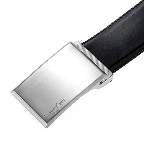 (カルバンクライン) Calvin Klein レザー メンズベルト ビジネスベルト [イタリア製] CKD-16 Black/Brown 【並行輸入品】