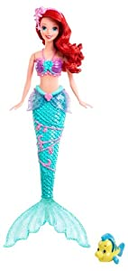 Mattel X9396 - Disney Princess Wasserzauber Arielle, Puppe