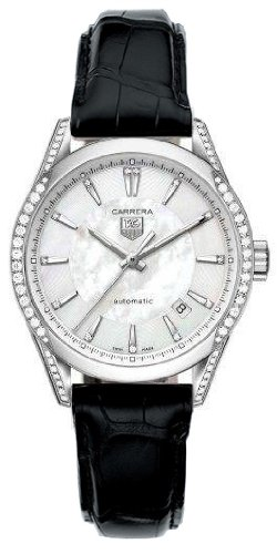 TAG HEUER CARRERA AUTOMATIC WV2212.FC6302 LADIES DIAMONDS AUTOMATIC DATE WATCH