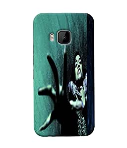 Fuson Scary Girl Back Case Cover for HTC ONE M9 - D3862