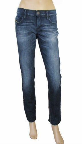 Diesel jeans donna slim fit vita bassa fondo con zip 00CDWA008L6 (24, DENIM)