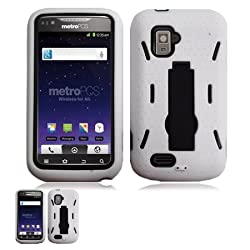 ZTE Anthem 4G N910 White And Black Hardcore Kickstand Case