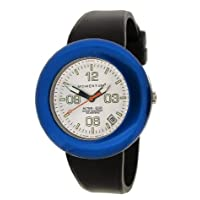 New St. Moritz Momentum M1 Women's Alter Ego Dive Watch & Underwater Timer for Scuba Divers with White Face, Blue Ring & Soft Black Silicone Rubber Band (Includes 1 Extra Black Top Ring)