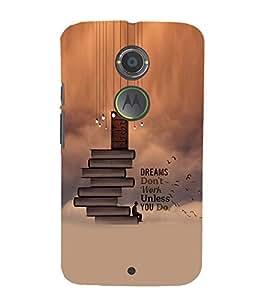 PrintVisa Quotes & Messages Dreams 3D Hard Polycarbonate Designer Back Case Cover for Motorola Moto X2