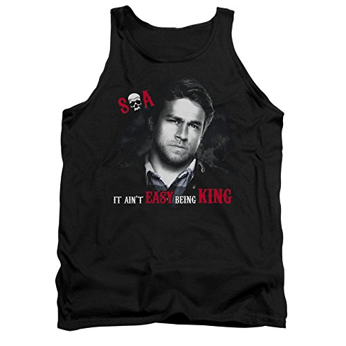 Sons Of Anarchy Tv Series Soa Jax It Ain'T Easy Being King Adult Tank Top Shirt