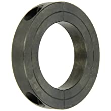 Climax Metal Two-Piece Clamping Shaft Collar, Recessed Screw Head, Black Oxide Steel