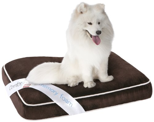 Simmons Comforpedic Orthopedic Napper Memory Foam Pet Bed, 27 By 36 By 4-Inch, Brown front-68731