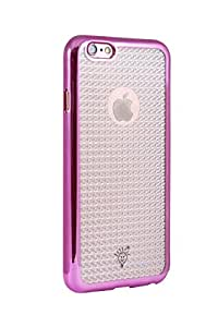 Parallel Universe TPU cover with SPARKLING BACK and electroplated metallic sides for Apple iPhone 6/6s - Rose Gold
