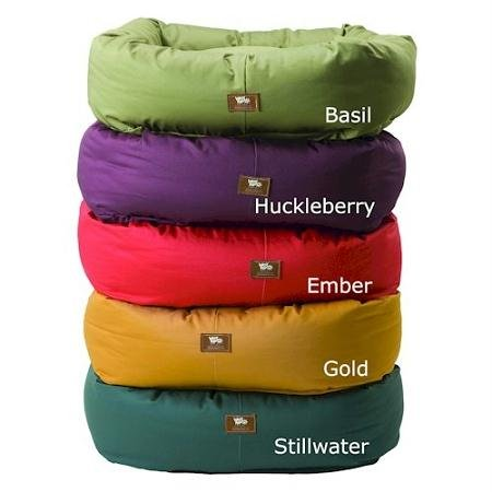 West Paw Design Organic Bumper 44 by 37 Dog Stuffed Bed Organic Cotton, Basil/Ember, X-Large