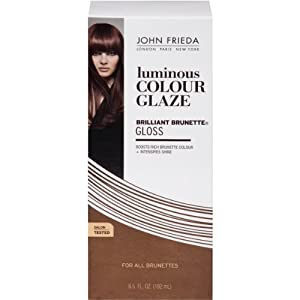 John Frieda Brilliant Brunette Liquid Shine Luminous Color Glaze-6.5 oz (192 ml)