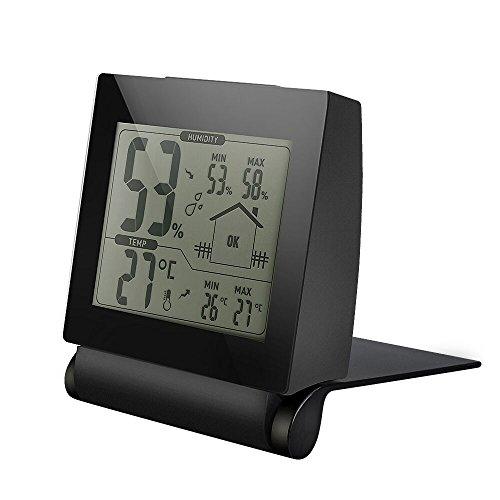 Thermometer-Hygrometer-LivSense-digitales-Thermo-Hygrometer-Luftfeuchtigkeit-Messer-Thermometer-Hygrometer-mit-MinMax-und-LCD-Schirm-fr-Schlafzimmer-Bro-Wohnzimmer-uswSchwarz