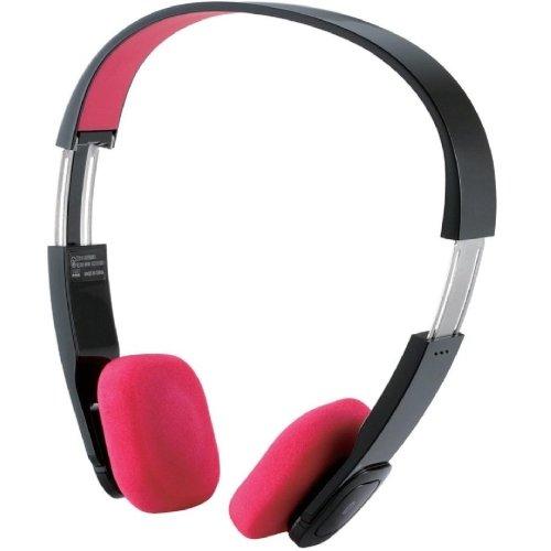 Logitec iPhone5/4/4S/3GS/3G スマートフォン対応 Bluetooth ワイヤレスヘッドホン オーバーヘッド apt-X、AAC対応 ACアダプタ付き ピンク LBT-MPOH02APN