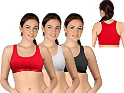 Selfcare Set Of 3 New Racerback Design Women's Sports Bras
