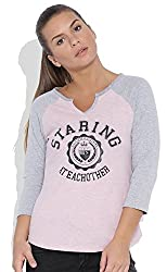 Silly People Women's Graphic Print T-Shirt:-Pink (Sie:-Medium)